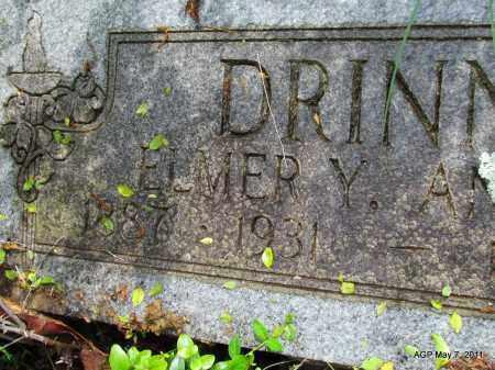 DRINNIN, ELMER Y (CLOSE UP) - Fulton County, Arkansas | ELMER Y (CLOSE UP) DRINNIN - Arkansas Gravestone Photos