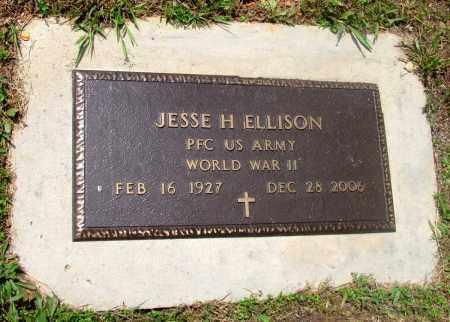 ELLISON (VETERAN WWII), JESSE H - Fulton County, Arkansas   JESSE H ELLISON (VETERAN WWII) - Arkansas Gravestone Photos