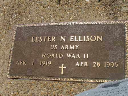 ELLISON (VETERAN WWII), LESTER N - Fulton County, Arkansas   LESTER N ELLISON (VETERAN WWII) - Arkansas Gravestone Photos