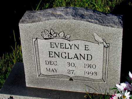 ENGLAND, EVELYN E - Fulton County, Arkansas   EVELYN E ENGLAND - Arkansas Gravestone Photos