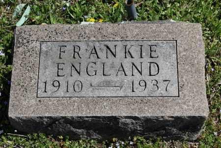 ENGLAND, FRANKIE - Fulton County, Arkansas | FRANKIE ENGLAND - Arkansas Gravestone Photos