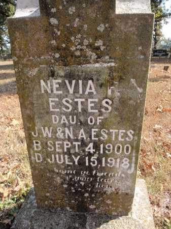 ESTES, NEVIA I. - Fulton County, Arkansas | NEVIA I. ESTES - Arkansas Gravestone Photos