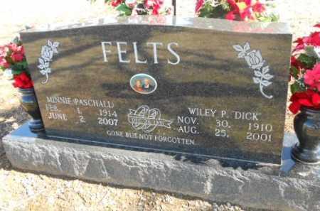 "FELTS, WILEY PEARCE ""DICK"" - Fulton County, Arkansas   WILEY PEARCE ""DICK"" FELTS - Arkansas Gravestone Photos"