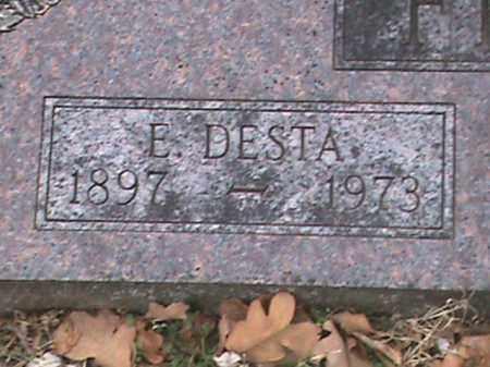 FIELD, E DESTA (CLOSE UP) - Fulton County, Arkansas | E DESTA (CLOSE UP) FIELD - Arkansas Gravestone Photos