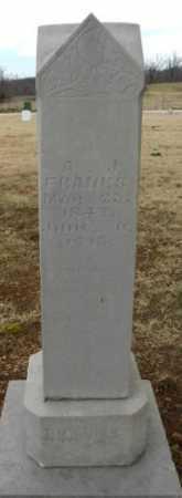 FRANKS, ANDREW JACKSON - Fulton County, Arkansas | ANDREW JACKSON FRANKS - Arkansas Gravestone Photos