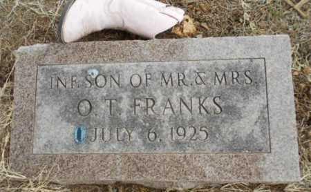 FRANKS, INFANT SON - Fulton County, Arkansas   INFANT SON FRANKS - Arkansas Gravestone Photos