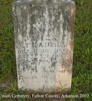 FRANKS, JAMES FRANKLIN - Fulton County, Arkansas   JAMES FRANKLIN FRANKS - Arkansas Gravestone Photos