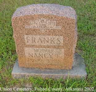 FRANKS, NANCY EVELINE - Fulton County, Arkansas | NANCY EVELINE FRANKS - Arkansas Gravestone Photos