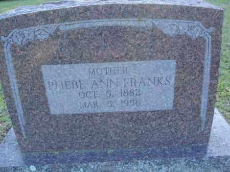 FRANKS, PHEBE ANN - Fulton County, Arkansas | PHEBE ANN FRANKS - Arkansas Gravestone Photos