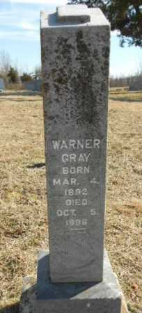 GRAY, WARNER SPURGEON - Fulton County, Arkansas | WARNER SPURGEON GRAY - Arkansas Gravestone Photos