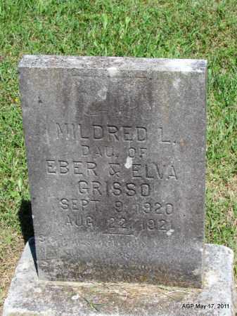 GRISSO, MILDRED L - Fulton County, Arkansas | MILDRED L GRISSO - Arkansas Gravestone Photos