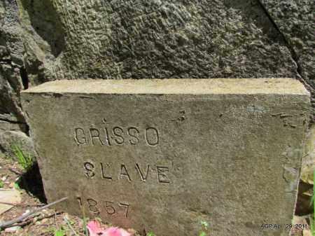 GRISSO, SLAVE (CLOSE UP) - Fulton County, Arkansas | SLAVE (CLOSE UP) GRISSO - Arkansas Gravestone Photos
