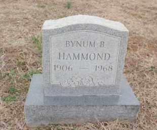 HAMMOND, BYNUM B. - Fulton County, Arkansas | BYNUM B. HAMMOND - Arkansas Gravestone Photos