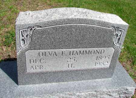 HAMMOND, OLVA F - Fulton County, Arkansas | OLVA F HAMMOND - Arkansas Gravestone Photos
