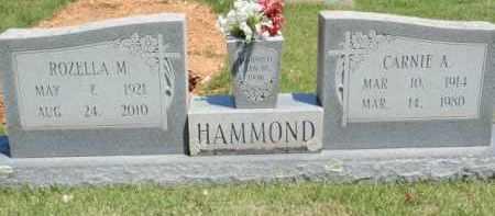 HAMMOND, CARNIE A - Fulton County, Arkansas   CARNIE A HAMMOND - Arkansas Gravestone Photos
