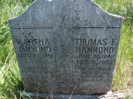 HAMMOND, THOMAS F - Fulton County, Arkansas | THOMAS F HAMMOND - Arkansas Gravestone Photos