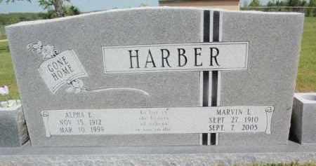 HARBER, ALPHA E - Fulton County, Arkansas | ALPHA E HARBER - Arkansas Gravestone Photos