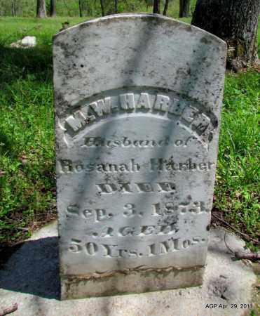HARBER, M W - Fulton County, Arkansas   M W HARBER - Arkansas Gravestone Photos