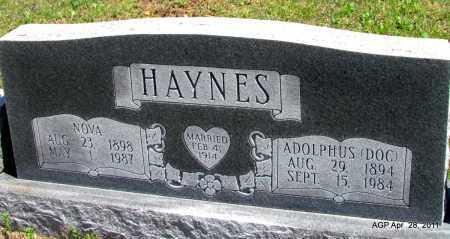 HAYNES, NOVA - Fulton County, Arkansas   NOVA HAYNES - Arkansas Gravestone Photos