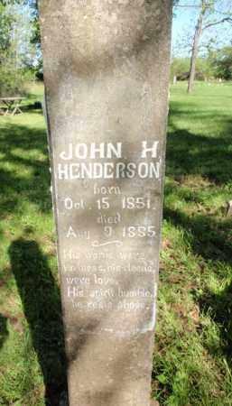 HENDERSON, JOHN H - Fulton County, Arkansas | JOHN H HENDERSON - Arkansas Gravestone Photos