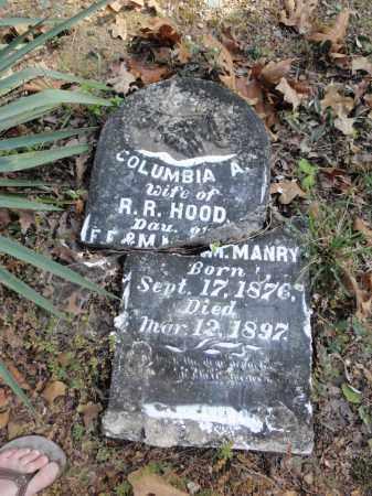 MANRY HOOD, COLUMBIA ADALINE - Fulton County, Arkansas | COLUMBIA ADALINE MANRY HOOD - Arkansas Gravestone Photos