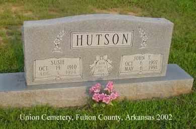 HUTSON, JOHN T. - Fulton County, Arkansas | JOHN T. HUTSON - Arkansas Gravestone Photos