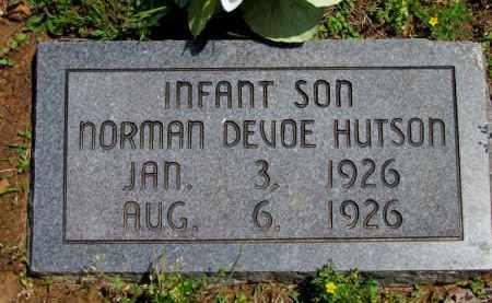 HUTSON, NORMAN DEVOE - Fulton County, Arkansas   NORMAN DEVOE HUTSON - Arkansas Gravestone Photos