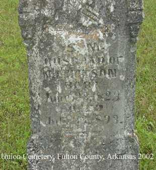 HUTSON, S. M. - Fulton County, Arkansas   S. M. HUTSON - Arkansas Gravestone Photos