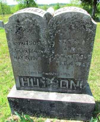 HUTSON, SARAH A - Fulton County, Arkansas | SARAH A HUTSON - Arkansas Gravestone Photos