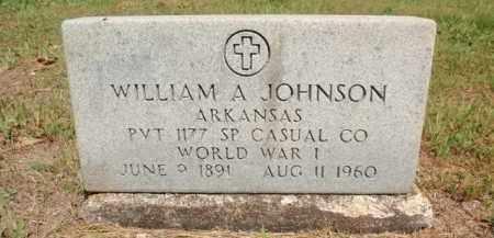 JOHNSON  (VETERAN WWI), WILLIAM A - Fulton County, Arkansas | WILLIAM A JOHNSON  (VETERAN WWI) - Arkansas Gravestone Photos