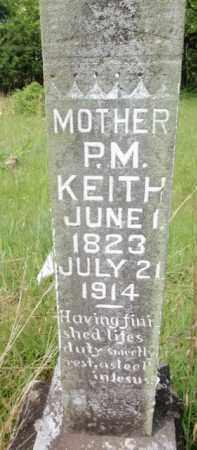 KEITH, P M - Fulton County, Arkansas   P M KEITH - Arkansas Gravestone Photos