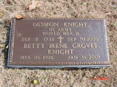 GROVES KNIGHT, BETTY IRENE - Fulton County, Arkansas | BETTY IRENE GROVES KNIGHT - Arkansas Gravestone Photos