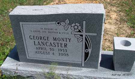 LANCASTER, GEORGE MONTY - Fulton County, Arkansas   GEORGE MONTY LANCASTER - Arkansas Gravestone Photos