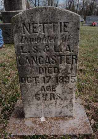 LANCASTER, NETTIE - Fulton County, Arkansas | NETTIE LANCASTER - Arkansas Gravestone Photos