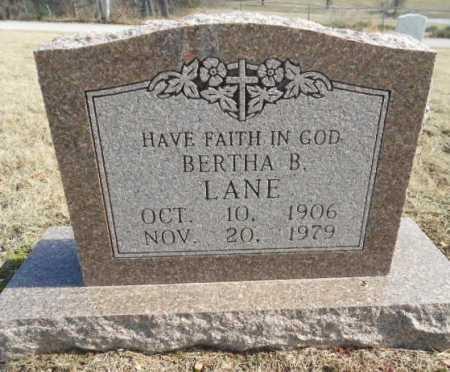LANE, BERTHA B. - Fulton County, Arkansas | BERTHA B. LANE - Arkansas Gravestone Photos