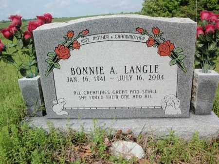 LANGLE, BONNIE A - Fulton County, Arkansas | BONNIE A LANGLE - Arkansas Gravestone Photos
