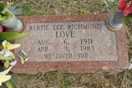 LOVE, BERTIE LEE - Fulton County, Arkansas   BERTIE LEE LOVE - Arkansas Gravestone Photos