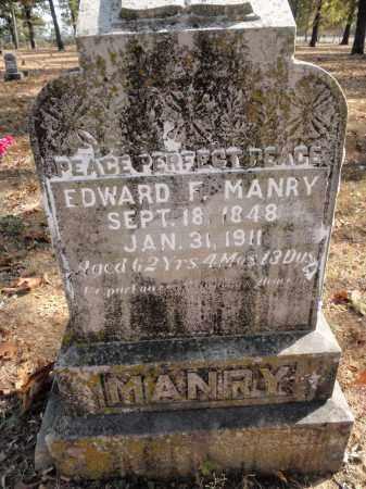 MANRY, EDWARD F. - Fulton County, Arkansas   EDWARD F. MANRY - Arkansas Gravestone Photos