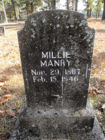 MANRY, MILLIE - Fulton County, Arkansas | MILLIE MANRY - Arkansas Gravestone Photos