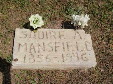 MANSFIELD, SQUIRE A - Fulton County, Arkansas | SQUIRE A MANSFIELD - Arkansas Gravestone Photos