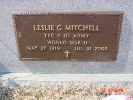 MITCHELL (VETERAN WWII), LESLIE G - Fulton County, Arkansas | LESLIE G MITCHELL (VETERAN WWII) - Arkansas Gravestone Photos