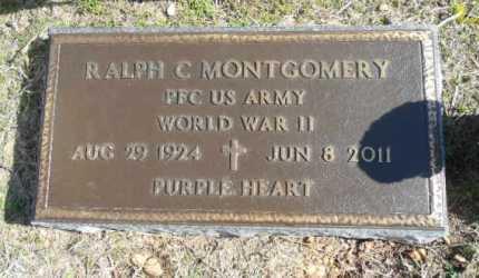 MONTGOMERY (VETERAN WWII), RALPH CECIL - Fulton County, Arkansas | RALPH CECIL MONTGOMERY (VETERAN WWII) - Arkansas Gravestone Photos
