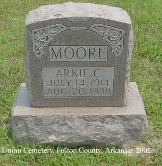 MOORE, ARKIE C. - Fulton County, Arkansas | ARKIE C. MOORE - Arkansas Gravestone Photos