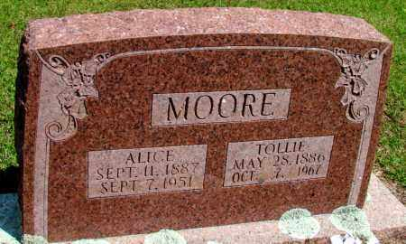 MOORE, ALICE - Fulton County, Arkansas | ALICE MOORE - Arkansas Gravestone Photos
