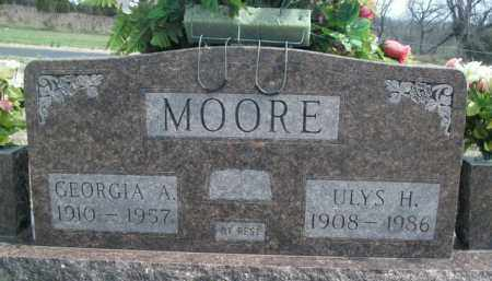 MOORE, ULYS H. - Fulton County, Arkansas | ULYS H. MOORE - Arkansas Gravestone Photos