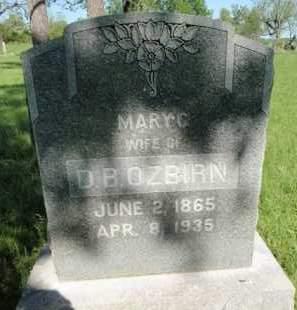 OSBIRN, MARY C - Fulton County, Arkansas   MARY C OSBIRN - Arkansas Gravestone Photos