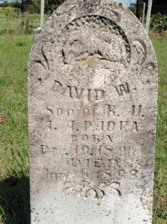 PADEN, DAVID W - Fulton County, Arkansas   DAVID W PADEN - Arkansas Gravestone Photos