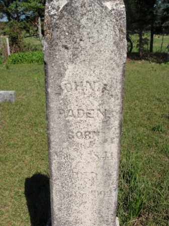 PADEN, JOHN H - Fulton County, Arkansas | JOHN H PADEN - Arkansas Gravestone Photos
