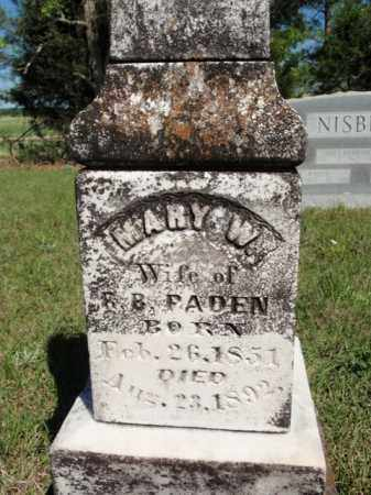 PADEN, MARY W - Fulton County, Arkansas | MARY W PADEN - Arkansas Gravestone Photos