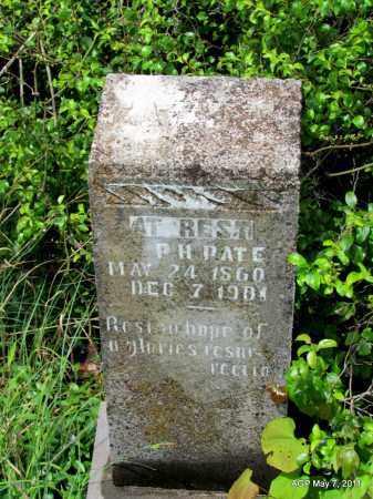 PATE, P H - Fulton County, Arkansas | P H PATE - Arkansas Gravestone Photos